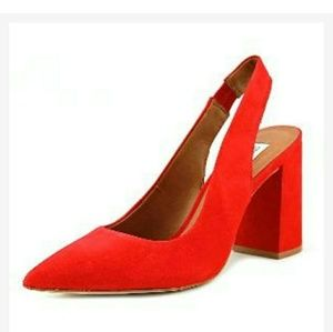 New Steve Madden Red Dove Leather Pumps